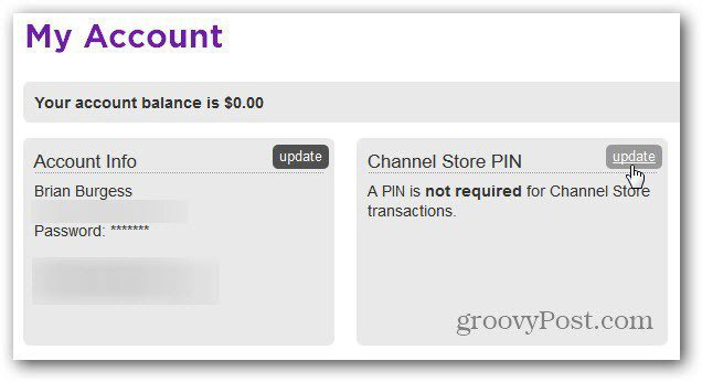 Update Channel Store PIN