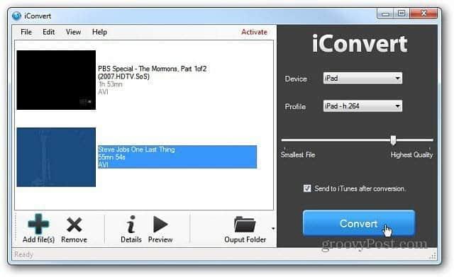 Windows Version of iConvert