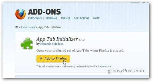 app tab initializer add to firefox