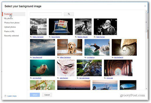 background image select gmail custom theme