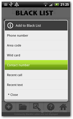 black list call control android add to black list