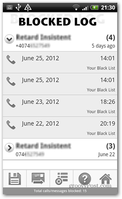 blocked log android call control