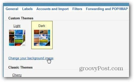custome themes light dark gmail