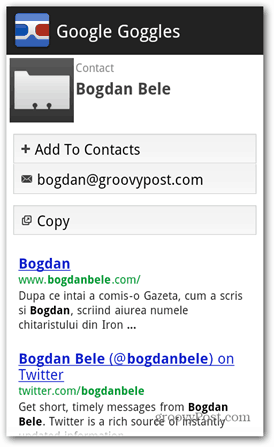 google goggles contact scan