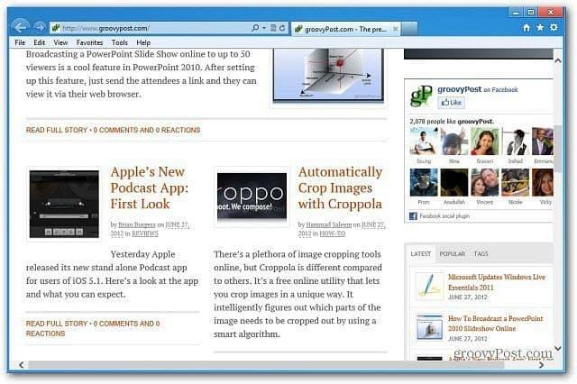 gp desktop IE
