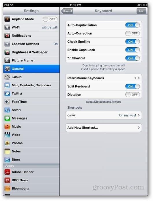 iPad Autocorrection 3