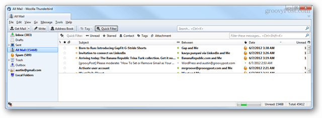restored thunderbird email client, emails, and profile