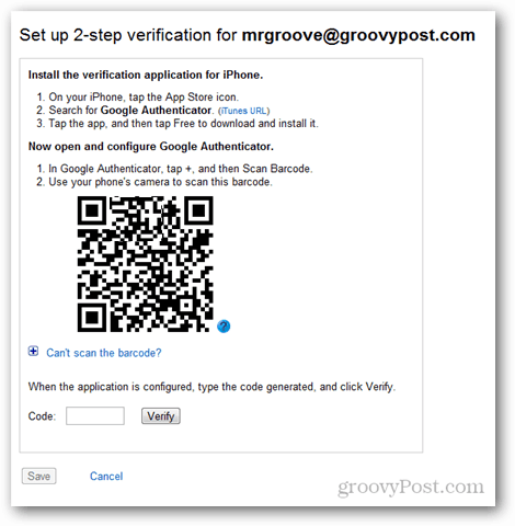 How to enable the Google Authenticator App for Your Google Account