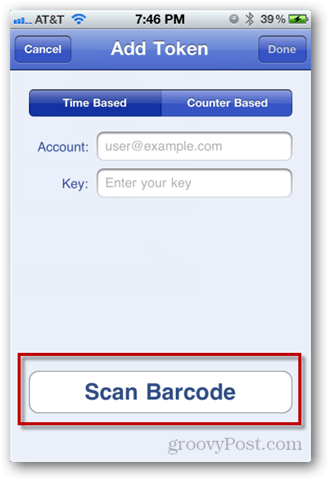 tap scan barcode
