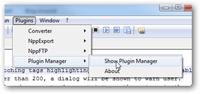 notepad++ plugin manager