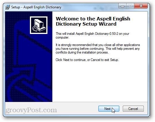 install aspell dictionary