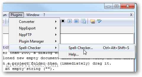 launch spell checker
