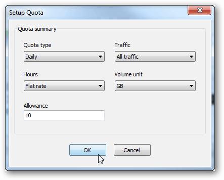 networx quota setup