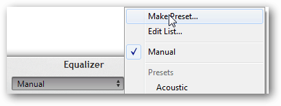 Save iTunes equalizer settings
