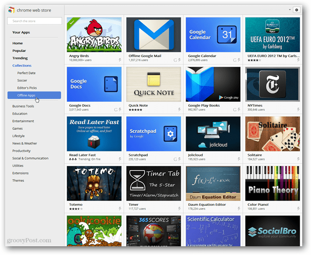 Google Launches Offline Apps to Chrome Web Store