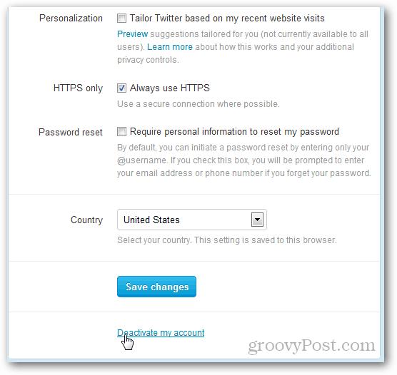 twitter deactivate link