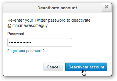 confirm twitter deactivate