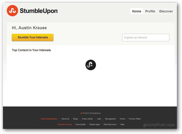 stumbleupon has no logout button