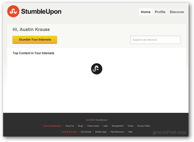 stumbleupon has no logout button