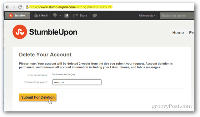 confirm stumbleupon deletion