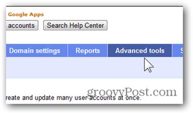 click advanced tools