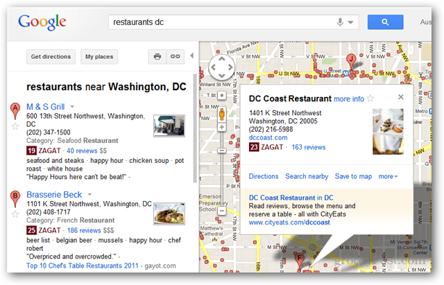 zagat rated google maps