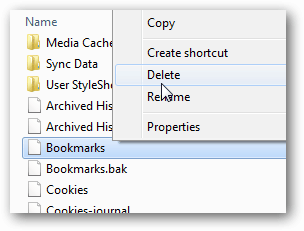 delete bookmarks