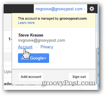 google 2 factor click account