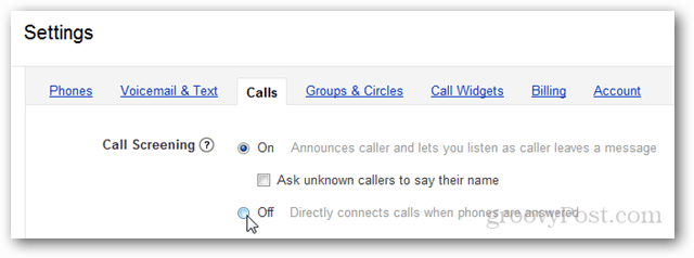 disable call screening