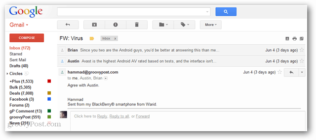 threaded conversation view gmail