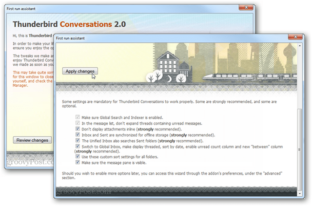 thunderbird conversations set up