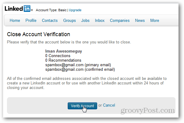 verify account deletion