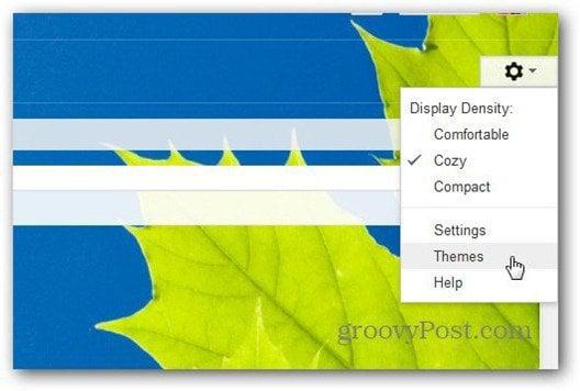 themes menu