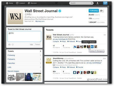 twitter wall street journal time