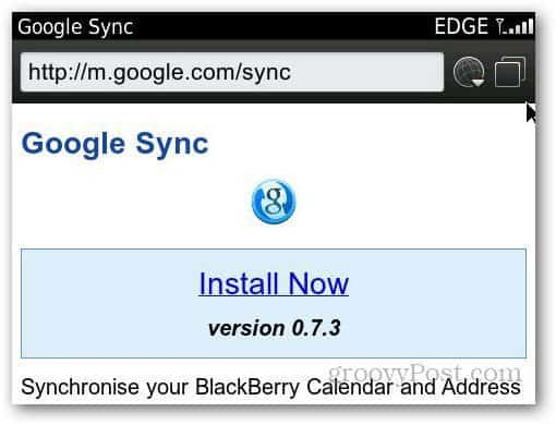 Blackberry Sync 1