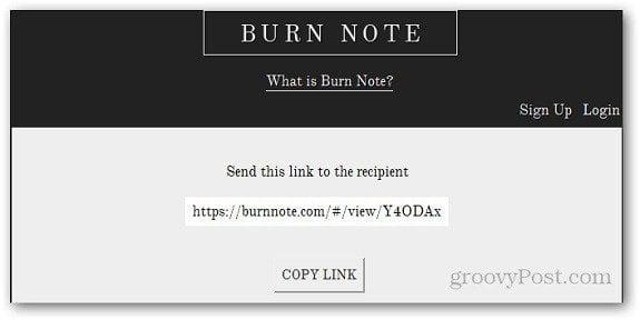 Burn Note 4