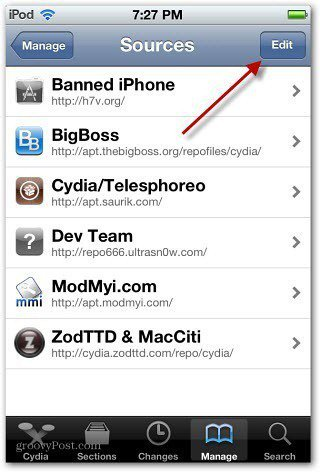 Cydia Edit Sources