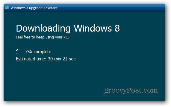 Downloading Win8 Progress
