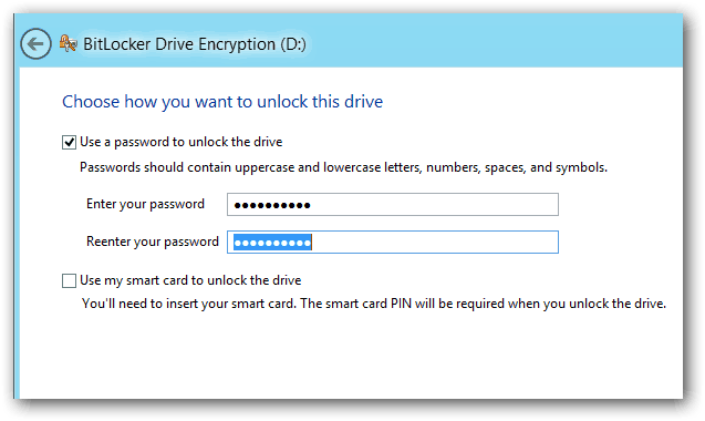 Enter BitLocker PW