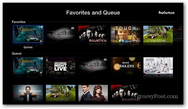 Favorites and Queue
