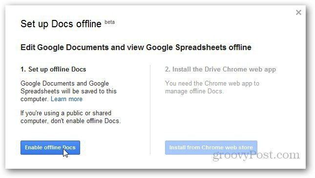 how to allow editing offline on google slides