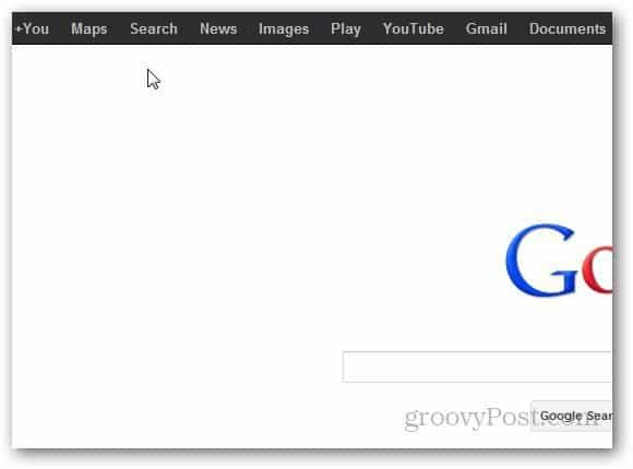 Google Navigation Bar 4