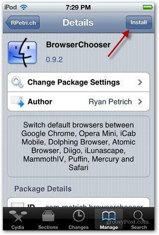 Install BrowserChooser