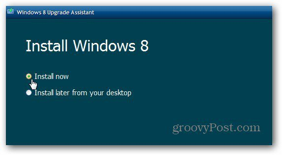 Install win8 Now