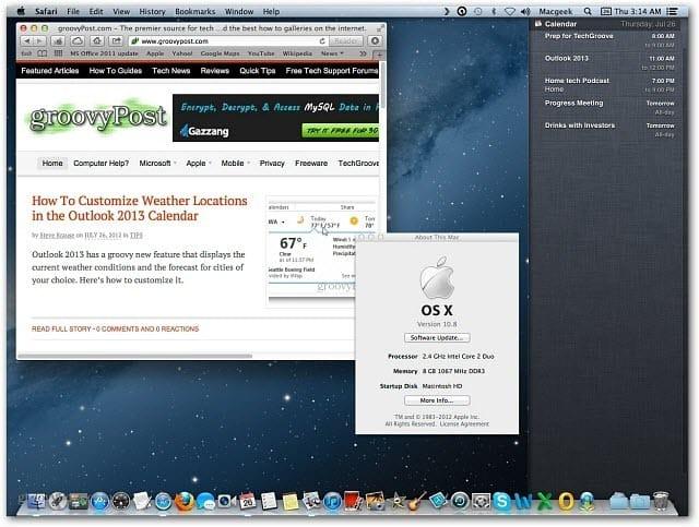 Mountain Lion Desktop
