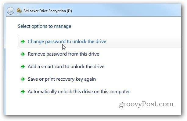 Options Windows 7