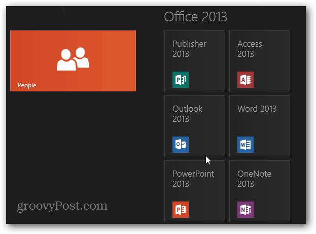 Outlook 2013 Metro Tile