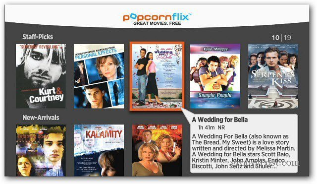 Popcornflix categories