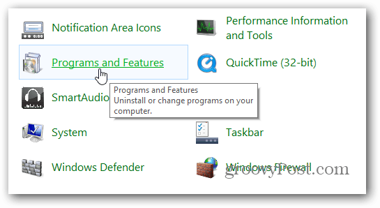 Programs and Features