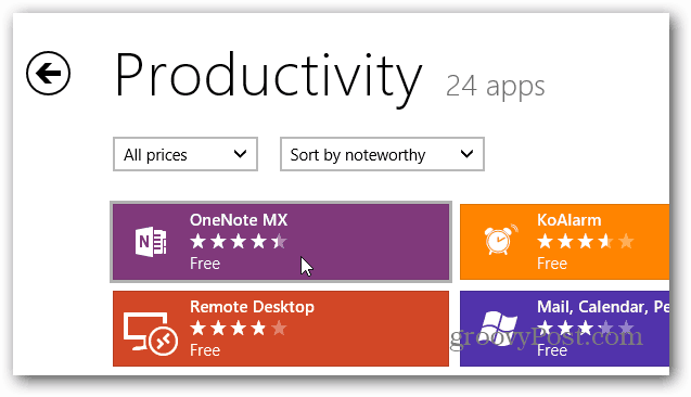 Select OneNote MX